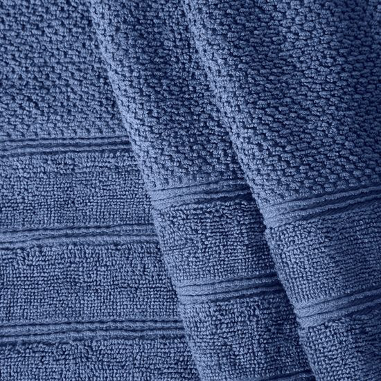 Bawełniany ręcznik kąpielowy frote niebieski 70x140 - 70 X 140 cm