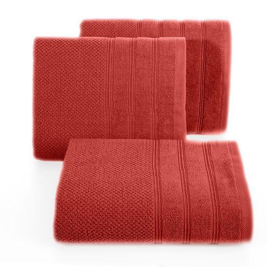 Bawełniany ręcznik kąpielowy frote ceglasty 50x90 - 50 X 90 cm