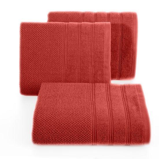 Bawełniany ręcznik kąpielowy frote ceglasty 70x140 - 70 X 140 cm