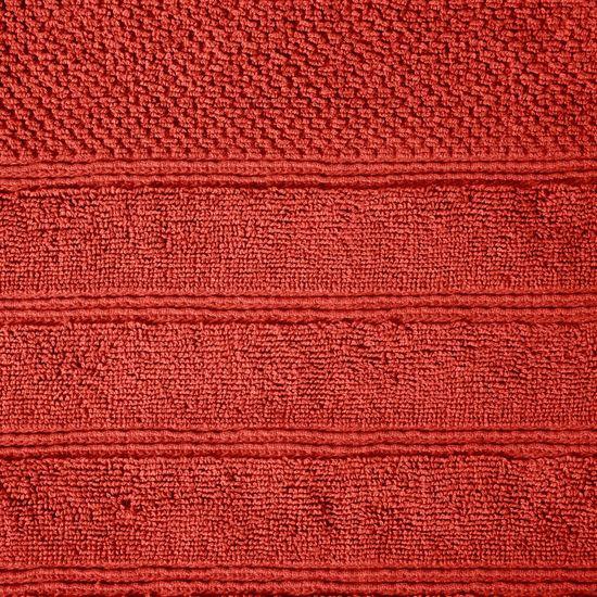 Bawełniany ręcznik kąpielowy frote ceglasty 70x140 - 70 X 140 cm - pomarańczowy