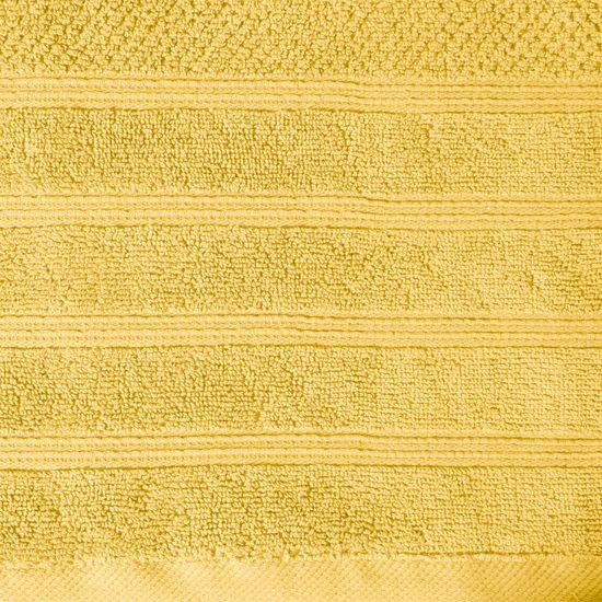 Bawełniany ręcznik kąpielowy frote musztardowy 50x90 - 50 X 90 cm