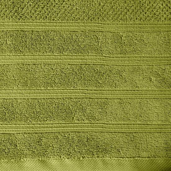 Bawełniany ręcznik kąpielowy frote oliwkowy 50x90 - 50 X 90 cm