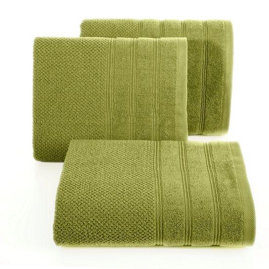 Bawełniany ręcznik kąpielowy frote oliwkowy 70x140 - 70 X 140 cm - oliwkowy
