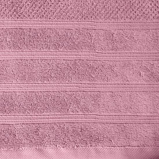 Bawełniany ręcznik kąpielowy frote liliowy 50x90 - 50 X 90 cm