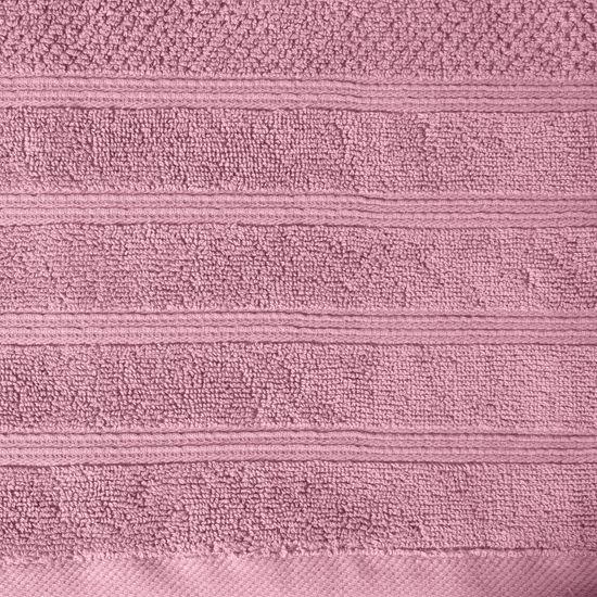Bawełniany ręcznik kąpielowy frote liliowy 70x140 - 70 X 140 cm - liliowy