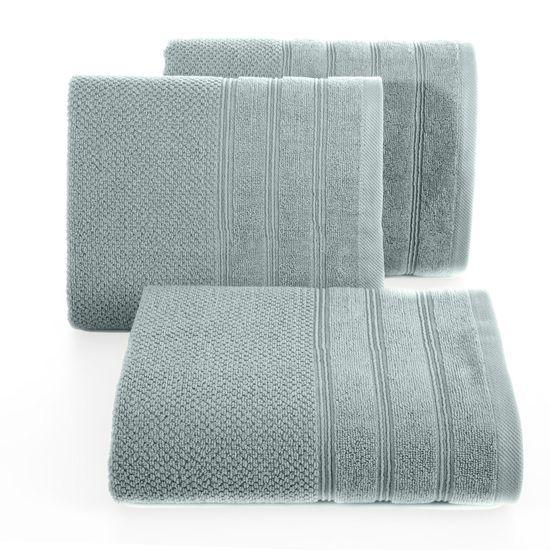 Bawełniany ręcznik kąpielowy frote miętowy 50x90 - 50 X 90 cm