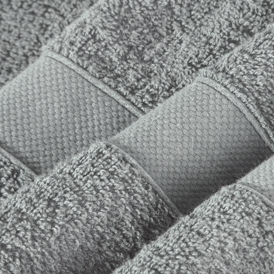 Miękki chłonny RĘCZNIK kąpielowy STALOWY 50x90 - 50x90