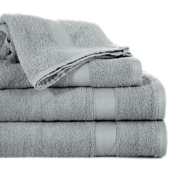 Miękki chłonny ręcznik kąpielowy stalowy 70x140 - 70 X 140 cm - stalowy