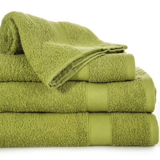 Miękki chłonny ręcznik kąpielowy oliwkowy 50x90 - 50 X 90 cm