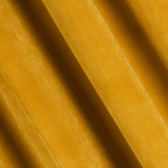 Zasłona welwetowa 140X270 cm na taśmie musztardowa - 140x270