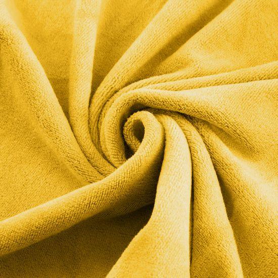 Ręcznik z mikrofibry szybkoschnący musztardowy 30x30cm  - 30 X 30 cm - musztardowy