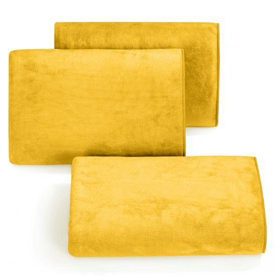 Ręcznik z mikrofibry szybkoschnący musztardowy 70x140cm  - 70 X 140 cm - musztardowy
