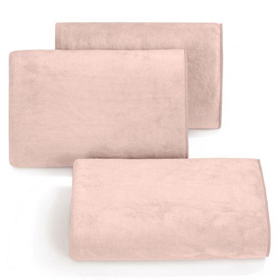 Ręcznik z mikrofibry szybkoschnący pudrowy70x140cm  - 70 X 140 cm