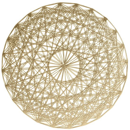 Ażurowa podkładka stołowa złota średnica 38 cm - ∅ 38 cm - złoty