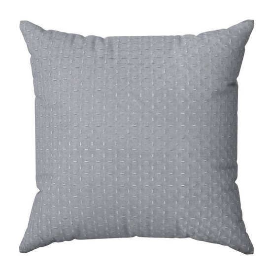 Poszewka na poduszkę pikowana hot press 40 x 40 cm srebrno-różowa - 40 X 40 cm