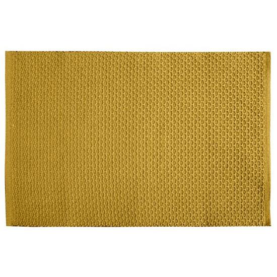 Jednokolorowa podkładka stołowa plaster miodu musztardowa 33x48 cm - 33 X 48 cm - musztardowy