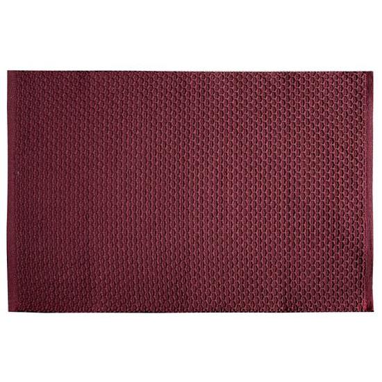 Jednokolorowa podkładka stołowa plaster miodu bordowa 33x48 cm - 33 X 48 cm - bordowy