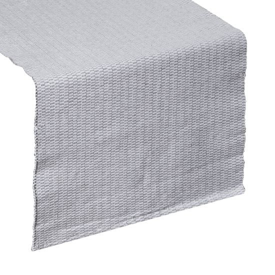 Strukturalny bieżnik na stół stalowy szary 40x140 cm - 40 X 140 cm