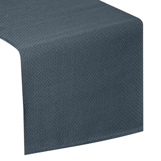 Granatowy bieżnik na stół bawełniany 40x140 cm - 40 X 140 cm