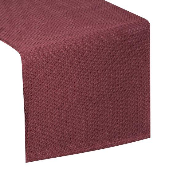 Bordowy bieżnik na stół bawełniany 40x140 cm - 40 X 140 cm - bordowy