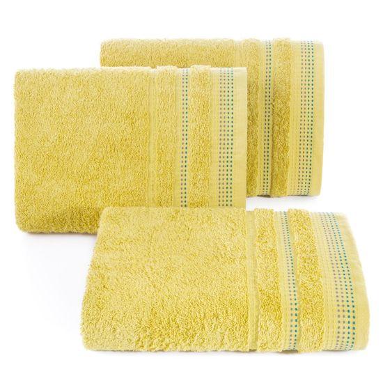 Miękki bawełniany ręcznik kąpielowy 50x90 cm musztardowy - 50 X 90 cm
