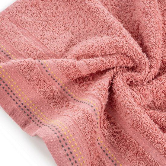 Ręcznik z bawełny z ozdobnym stebnowaniem 30x50cm - 30x50