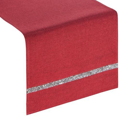 Czerwony bieżnik na stół do jadalni cekiny 33x180 cm - 33 X 180 cm - czerwony