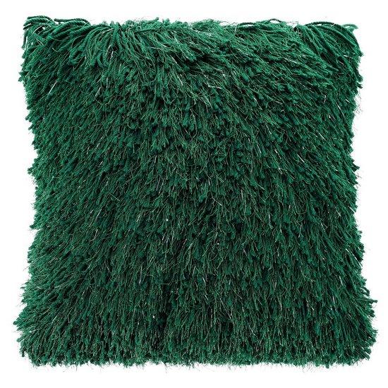 Zielona POSZEWKA FUTERKOWA ze srebrną nicią 40x40 cm - 40x40 - Zielony