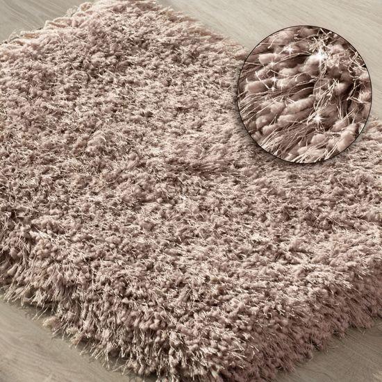 Ozdobny dywanik z błyszcząca nicią różowy 50x70 cm - 50x70