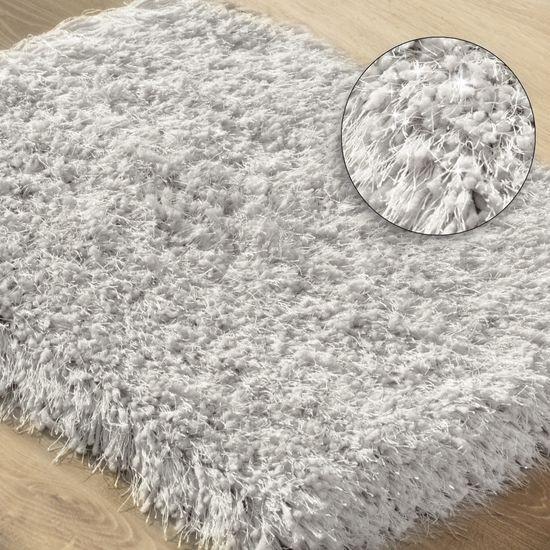 Ozdobny dywanik z błyszcząca nicią beżowy 60x90 cm - 60 X 90 cm