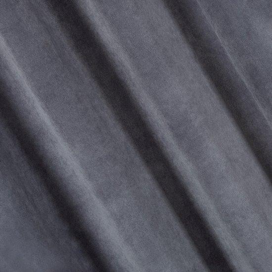 Zasłona jednokolorowa o strukturze welwetu 140x250 - 140 X 250 cm - szary