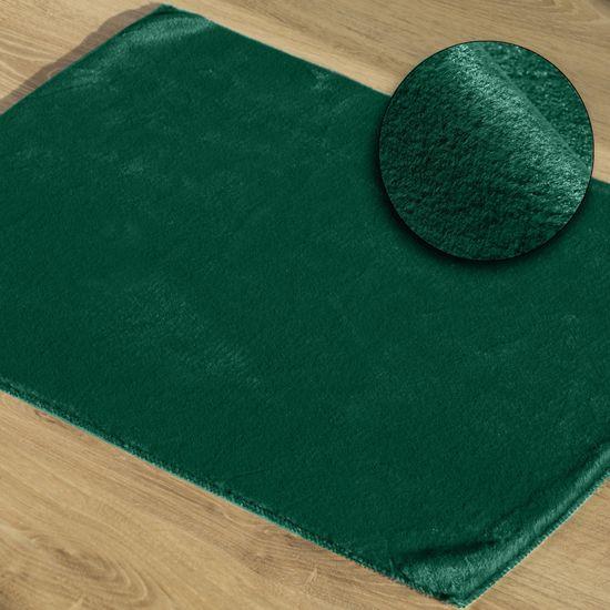 Gładki dywanik łazienkowy zielone futerko 50x70 cm - 50 x 70 cm