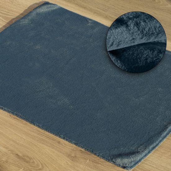Gładki dywanik łazienkowy granatowe futerko 50x70 cm - 50 x 70 cm