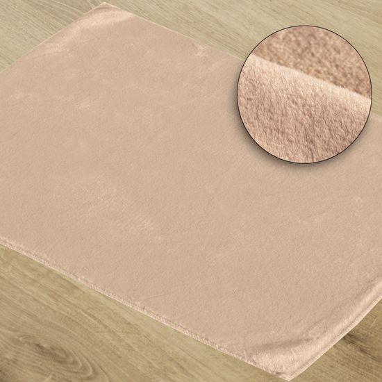 Gładki dywanik łazienkowy różowe futerko 50x70 cm - 50 x 70 cm