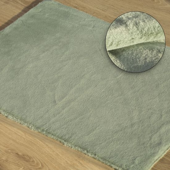Gładki dywanik łazienkowy miętowe futerko 60x90 cm - 60 x 90 cm