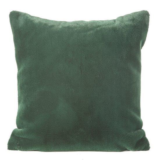 Zielona POSZEWKA OZDOBNA z krótkiego futerka 45x45cm - 45x45 - Zielony