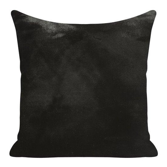 Czarna POSZEWKA OZDOBNA z krótkiego futerka 45x45cm - 45x45 - Czarny