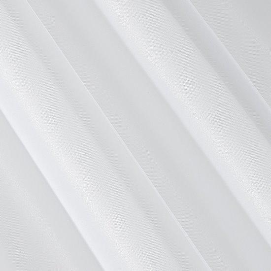 Gładka BIAŁA FIRANA na taśmie szeroka 350x250 cm - 350 X 250 cm - biały