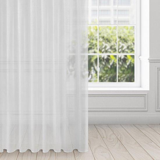 Zasłona zwiewna biała taśma 135x270 cm - 140 X 270 cm