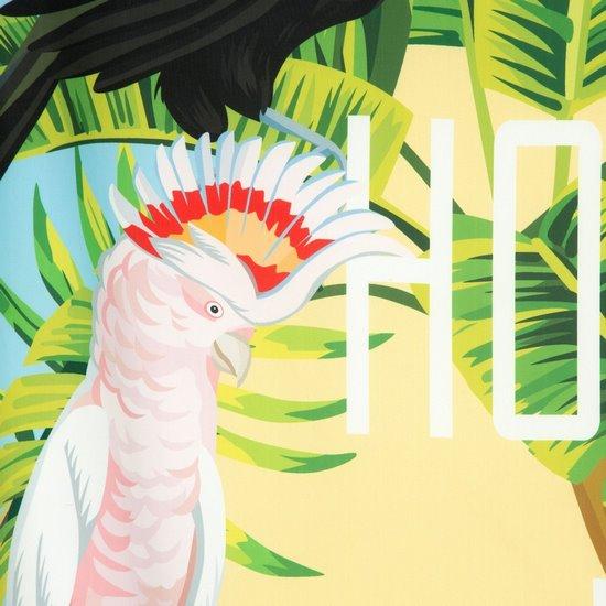 Birds KOMPLET POŚCIELI motyw egzotyczny 160x200 cm - 160x200 - niebieski, zielony, żółty