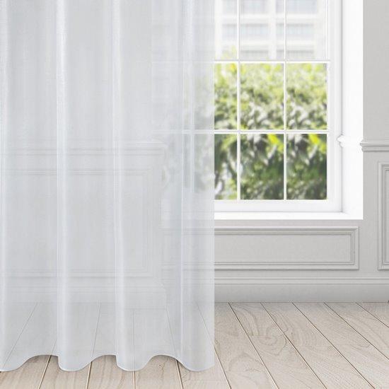 Zasłona zwiewna biała przelotki 135x250 cm - 140 X 250 cm - biały