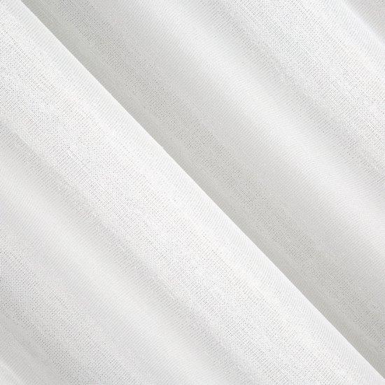 Biała firana ze srebrną nicią na przelotkach 140x250 cm - 140 X 250 cm