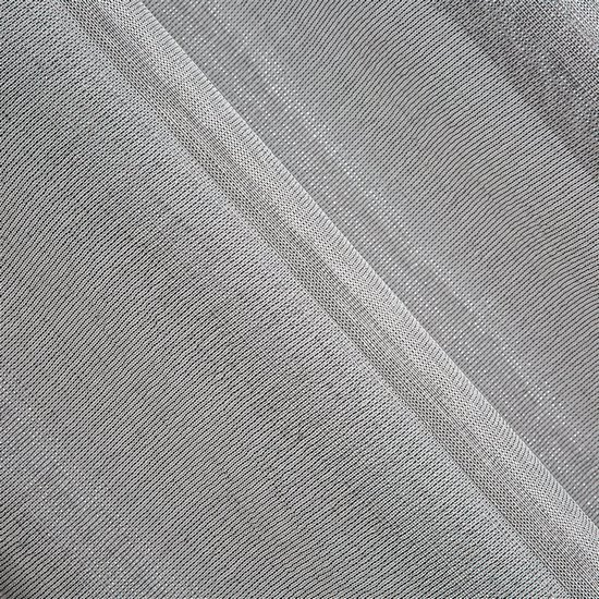 Srebrna firana ze srebrną nicią na przelotkach 140x250 cm - 140 X 250 cm