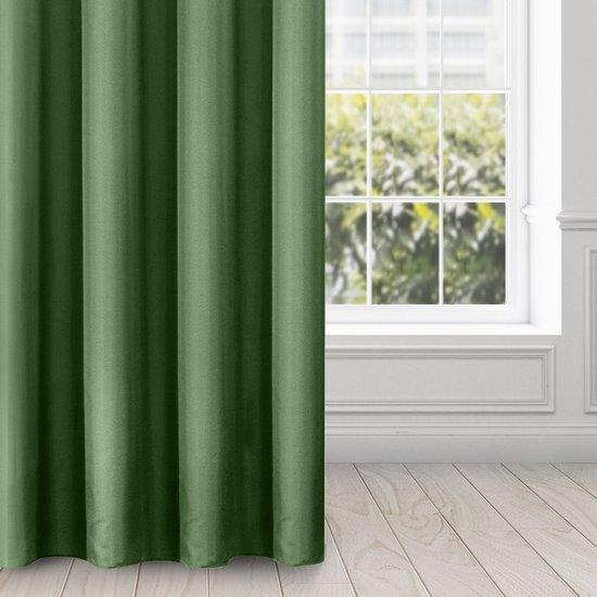 ADORE GŁADKA MATOWA ZASŁONA NA PRZELOTKACH  - CIEMNA ZIELEŃ 140x250cm Design91 - 140 X 250 cm - zielony