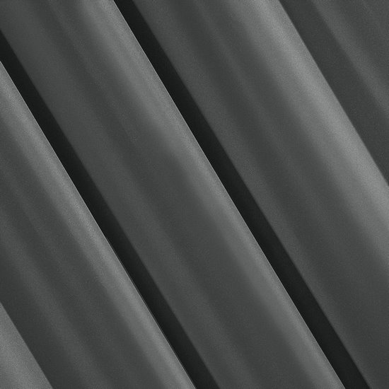 Zasłona gładka GRAFITOWA przelotki 140x250 cm - 140x250