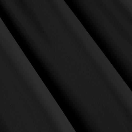 Czarna zasłona zaciemniająca 135x250 na przelotkach - 135 X 250 cm