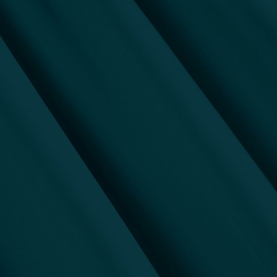 Gładka zasłona zaciemniająca petrol 135x250 przelotki - 140 X 250 cm