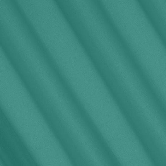 Gładka zasłona zaciemniająca turkusowa 135x250 przelotki - 135 X 250 cm