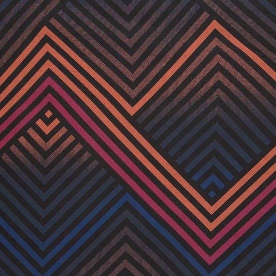 Komplet pościeli bawełnianej DIEGO 200x220 2szt 70x80 styl nowoczesny - 220x200 - czarny, granatowy, pomarańczowy, fioletowy, czerwony