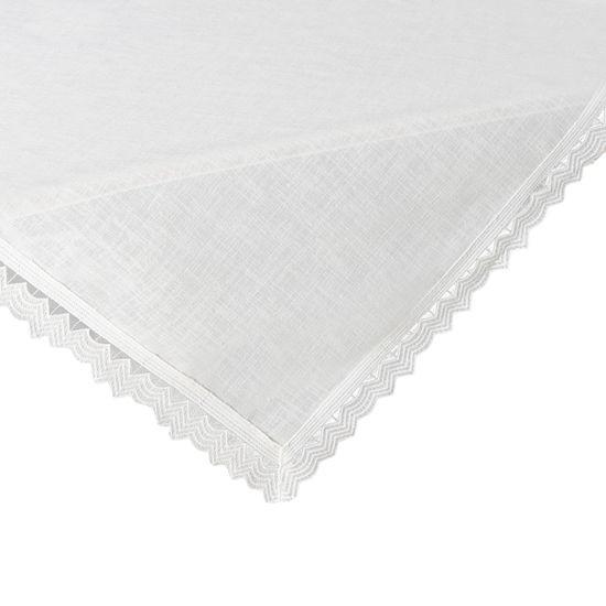 Biały obrus z kolekcji Premium z koronką 80x80 cm - 80 X 80 cm